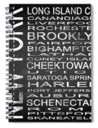 Subway New York State 3 Square Spiral Notebook