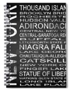 Subway New York State 4 Square Spiral Notebook