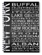 Subway New York State Square Spiral Notebook