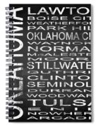 Subway Oklahoma State Square Spiral Notebook
