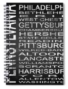 Subway Pennsylvania State Square Spiral Notebook
