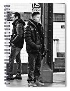Subway Platform At 125th Street Spiral Notebook