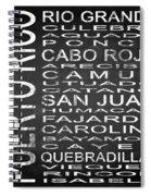 Subway Puerto Rico Square Spiral Notebook