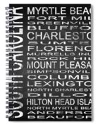Subway South Carolina State Square Spiral Notebook