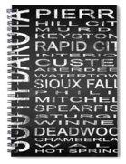 Subway South Dakota State Square Spiral Notebook