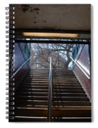 Subway Stairs To Freedom Spiral Notebook