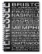 Subway Tennessee State Square Spiral Notebook