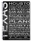 Subway Texas State Square Spiral Notebook