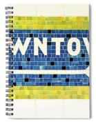 Subway Tile Sign Downtown Spiral Notebook