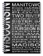 Subway Wisconsin State Square Spiral Notebook