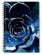 Succulent In Blue Spiral Notebook