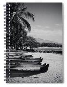 Sugar Beach Hawaiian Outrigger Canoes Kihei Maui Hawaii  Spiral Notebook