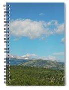 Sugar Magnolia Summer Rocky Mountain Peaks Panorama View Spiral Notebook