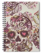 Sugarskull Punk Patchwork Spiral Notebook