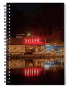 Suisan Fish Market At Night Spiral Notebook