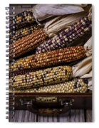 Suitcase Full Of Indian Corn Spiral Notebook