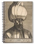 Suleyman The Magnificent , Engraved By Melchior Lorck Spiral Notebook