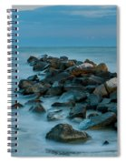 Sullivan's Island Rock Jetty Spiral Notebook