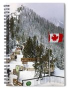 Sulphur Mountain In Banff National Park In The Canadian Rocky Mountains Spiral Notebook
