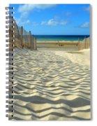 Sultry September Beach Spiral Notebook