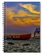 Summer Sunset In Cape May Nj Spiral Notebook