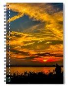 Summer Sunset Over The Delaware River Spiral Notebook