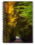 Summer And Fall Collide Spiral Notebook