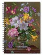 Summer Arrangement In A Glass Vase Spiral Notebook