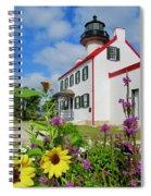 Summer At East Point Light Spiral Notebook