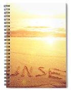 Summer Background Spiral Notebook