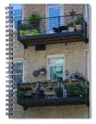 Summer Balconies In Chicago Illinois Spiral Notebook