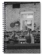 Summer Balcony In B W Spiral Notebook