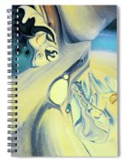 Summer Beach Abstract Spiral Notebook