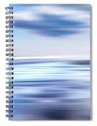 Summer Beach Blues Spiral Notebook