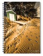 Summer Beach Shacks Spiral Notebook