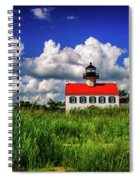 Summer Clouds At East Point Spiral Notebook