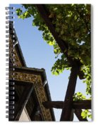 Summer Courtyard - Decorated Eaves And Grape Arbors In The Sunshine Spiral Notebook