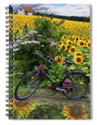 Summer Cycling Spiral Notebook
