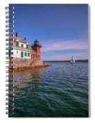Summer Day At Rockland Breakwater Spiral Notebook