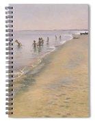 Summer Day At The South Beach Of Skagen Spiral Notebook