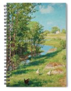Summer Day By The Stream Spiral Notebook