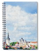 Summer Day In Tallinn Spiral Notebook