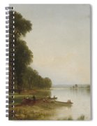 Summer Day On Conesus Lake, 1870 Spiral Notebook