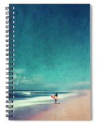 Summer Days - Abstract Seascape With Surfer Spiral Notebook