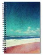 Summer Days IIi - Abstract Beach Scene Spiral Notebook