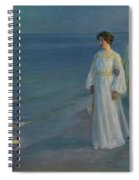 Summer Evening On The Beach At Skagen The Artist And His Wife Spiral Notebook