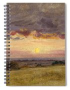 Summer Evening With Storm Clouds Spiral Notebook
