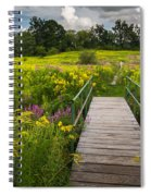 Summer Field Of Wildflowers Spiral Notebook