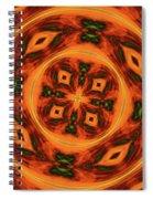 10697 Summer Fire Mask 54 Kaleidoscope 2 Spiral Notebook