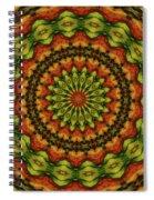 10698 Summer Fire Mask 54 Kaleidoscope 3 Spiral Notebook